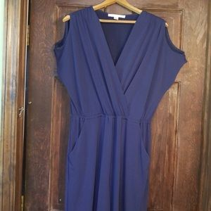 Boston Proper Cold Shoulder Jumpsuit